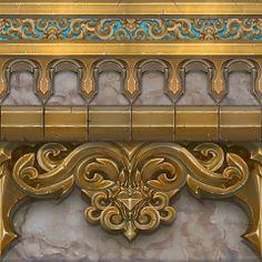 A beautiful stylized wall texture by Naughty Dog artist Genesis Prado