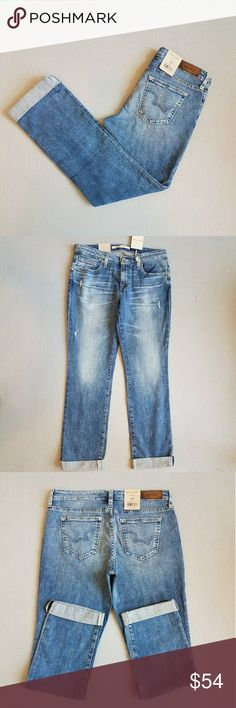 NWT Big Star Kate Straight Leg Cuffed Jeans SZ 29 New W/Factory Embellished Fading, Whiskering & Distressing, Straight Leg, Mid Rise. Style: QUWKAT, Wash : Invierno. Posh does not allow returns for size so Please ask all questions prior to purchase. Big Star Jeans Straight Leg