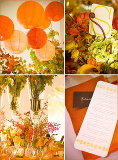 modern fall party theme