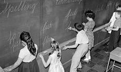 "Schoolchildren writing on a blackboard. ""Think you's good at grammar? Try my seven golden rules"" http://gu.com/p/4ha9g"