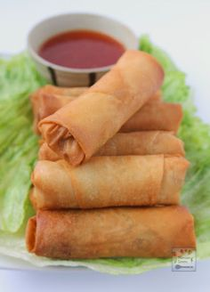 These crunchy and delicious spring rolls (Lumpia) are the perfect appetizers for any party and great for snacking, too. These can be made fully vegetarian or a little meat may be added, too. #easy #lumpia #vegetarian #appetizers #asian Vegetarian Spring Rolls, Vegetarian Recipes, Cooking Recipes, Vegetarian Appetizers, Italian Appetizers, Steak Recipes, Snacks, Recipes, Appetizer Recipes