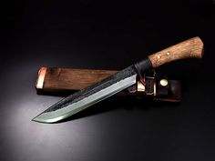 Tosa forging hunting knife blue DM15 blue 2 double-edged blade 300