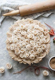 Rosy Rhubarb Pie  - OMG!!! /