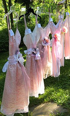 Pretty little slip dresses