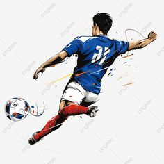 Man Playing Football, Playing Football Clipart, Football, Man PNG Transparent Clipart Image and PSD File for Free Download