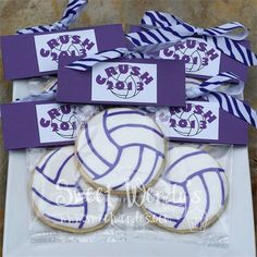 Volleyball cookies individually wrapped
