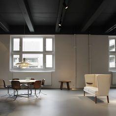 Pieces by Frits Henningsen, Alvar Aalto, Poul Henningsen, Poul Kjærholm and Otto Færge