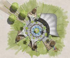 Landscape Architecture Drawing, Architecture Concept Drawings, Landscape Sketch, Landscape Elements, Landscape Concept, Landscape Plans, Urban Landscape, Landscape Design, Site Analysis Architecture