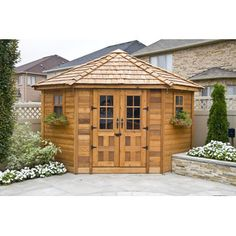 <strong>Outdoor Living Today</strong> 9 Ft. W x 9 Ft. D Wood Garden Shed