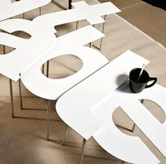 This new series of modular furniture by Alessandro Canepa & Andrea Paulicelli features alphanumeric elements A-Z and their lower case counterparts as well as as Modular Furniture, Design Furniture, Unique Furniture, Furniture Making, Home Furniture, Italian Furniture, Office Furniture, Web Design, Yanko Design