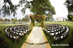 have an outdoor wedding ceremony