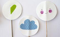 Ideales y muy fáciles de hacer estos toppers hechos con washi tape