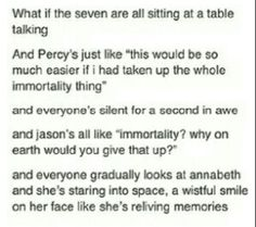 yeah.. but then he wouldn't have been a demigod. aka no longer part of the seven. aka NO PERCY