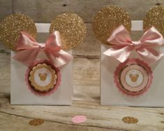 Rosa y oro Minnie Mouse party rosa y oro por HeidiPartyCreations