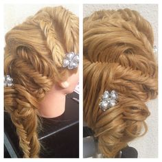 1348 Best Bobby Pins And Clear Elastics Images Wedding Hair Styles