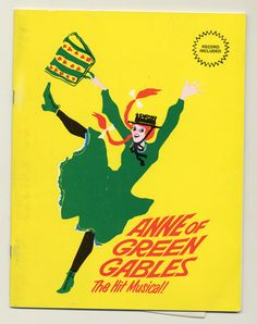 1977 souvenir brochure cover, Anne of Green Gables - The Musical™ at Confederation Centre of the Arts.