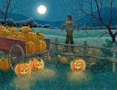 Autumn Retro Halloween, Spooky Halloween, Halloween Kunst, Photo Halloween, Halloween Artwork, Halloween Scene, Halloween Painting, Halloween Prints, Halloween Pictures