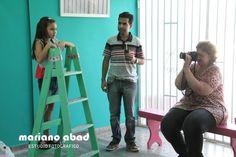 Back de fotografía en el estudio con los aprendices! Qué no falte el mate!