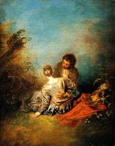 Le faux pas ~ ca. 1717 ~ Olieverf op doek ~ 50 x 41 cm. ~ Musée du Louvre, Parijs