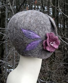 why don't we wear hats anymore? Romantic 1920s flapper helmet cloche hat  by Littlehillwoolworks, $158.00