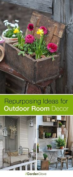 Diy Crafts Ideas : Repurposing Ideas for Outdoor Room Decor  Tips and Ideas!