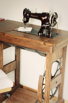 how to sew on a vintage treadle = we had an old machine like this in our attic at our first house on Race Street.