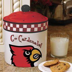Louisville Cardinals Gameday Cookie Jar or Taylor County Cards! Louisville Basketball, University Of Louisville, Basketball Goals For Sale, Basketball Season, Basketball Art, Lamar Cardinals, Arizona Cardinals, Ceramic Cookie Jar