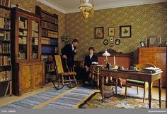 Herrummet i professorshemmet i Walmstedtska gården, Uppsala, sannolikt i mitten av 1980-talet @ DigitaltMuseum.se