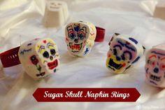 DIY Sugar Skull Decor: Napkin Rings for Halloween or Dia de los Muertos