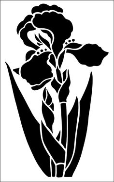 Flower stencils from The Stencil Library. Stencil catalogue quick view page 13.