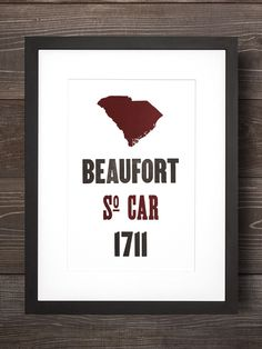 Beaufort   South Carolina Letterpress Print - Old Try - ´X°
