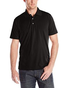 Dickies Mens Short Sleeve Performance Polo Black Large -- Check out this great product. (This is an affiliate link)