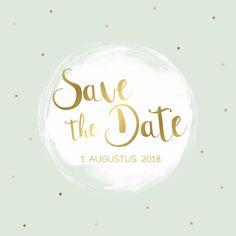 Leuke Save the Date kaart, verkrijgbaar bij #kaartje2go voor €1,99