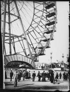First of Its Kind: The Chicago Ferris Wheel of 1893 In the background and make everything look old-timey then at the bottom est. 2006 Hahahaha