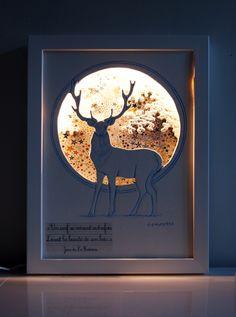 Veilleuse décorative pour chambre d'enfant: le cerf