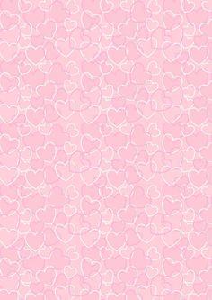 Valentine Heart Background | Valentine's Day scrapbook paper - pink heart background
