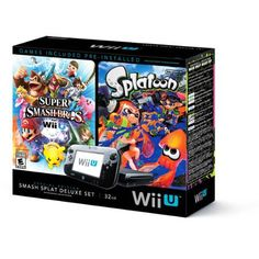Nintendo Wii U Splatoon and Super Smash Bros Console Deluxe Set - Walmart.com 275