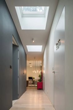Transform your home with FAKRO flat roof windows! Flat Roof Skylights, Modern Skylights, Building A Porch, Building A House, Skylight Bedroom, Roof Replacement Cost, Skylight Design, Green House Design, Roof Lantern