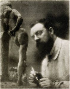 Henri Matisse and La Serpentine - Issy-les-Moulineaux - Fall 1909. Photograph by Edward Steichen.