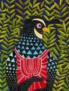 Watercolor quail by ZSALTO