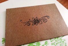 Kraft Paper Mini Envelopes - Flower on Etsy, $5.00