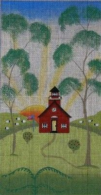 Little Red Schoolhouse  (hand painted canvases)  Product No: 14295  Supplier Code: EWE-93  Designer/Artist: Ewe and Eye  Publisher: Ewe and ...