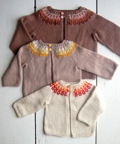Whit's Knits: Baby Girl Fair Isle Cardigan
