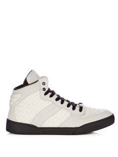 Intrecciato mid-top leather and suede trainers | Bottega Veneta |  MATCHESFASHION.COM US
