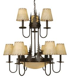 """Timberland Two Tier Chandelier  38.5"""" W x 36.5"""" H  $998 on sale"""