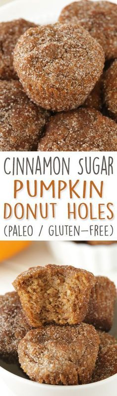 Pumpkin Donut Holes (paleo, grain-free, gluten-free, dairy-free)