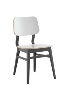 wooden frame dining chair available in a variety of colours