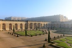 When winter comes, the orange trees are placed inside the Orangerie at Versailles.