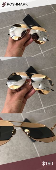 fbc3f249a3f1 Dior split gold silver mirror sunglasses Super cool Dior Accessories  Sunglasses. Sara Michiel · My Posh Closet
