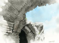 Tuscan Sky 1 -- Matthew D. Hughes -- Watercolor #landscape #painting #italy #italia #tuscany